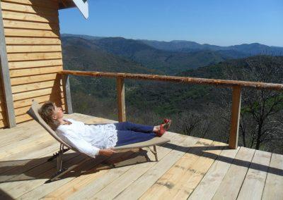 Gite ardèche bois eden terrasse