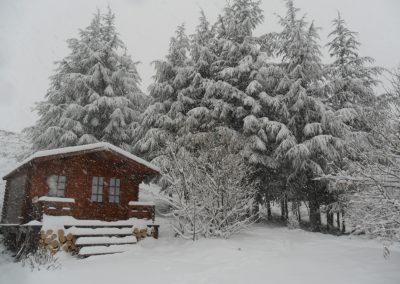Gite ardèche bois eden hiver